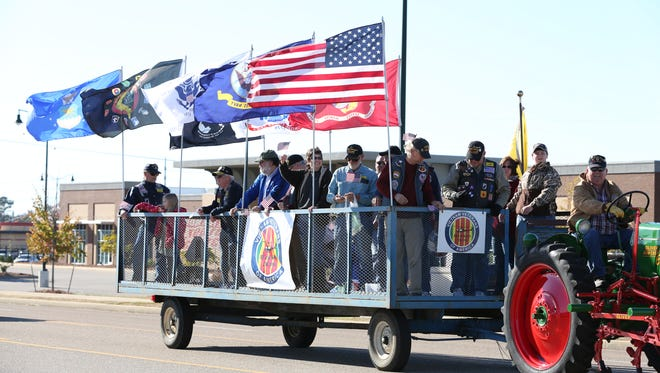 The 2nd annual Veterans Parade was held near the Ballpark of Jackson in Jackson, Tenn., on Saturday, Nov. 12, 2016.