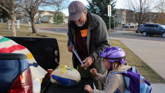 Students at Johnson Elementary participated in the Turkey Roundup on November 16, 2016. The annual turkey drive for the Food Bank for Larimer County is also competition between schools.