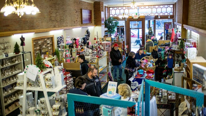 People shop at A Little Something during Small Business Saturday Nov. 26 in downtown Port Huron.