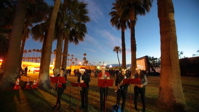 The Coachella Valley Boys and Girls Club's Heatwave band performs during the Indio Winter Fest in 2015.