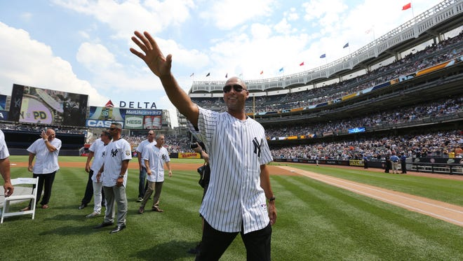 Former Yankees captain Derek Jeter will have his No. 2 jersey retired by the team on May 14. (John Munson/The Star-Ledger via AP, Pool)