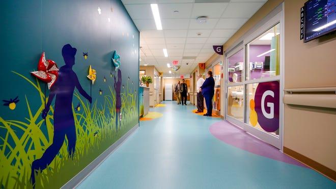 Employees tour the new Blank ChildrenÕs Hospital Emergency Department at Unity Point Health Iowa Methodist Medical Center Thursday, Dec. 8, 2016.