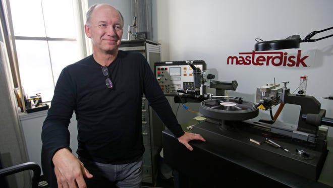Scott Hull, owner of Masterdisk and chief engineer at his studio in Peekskill on Dec. 9, 2016.