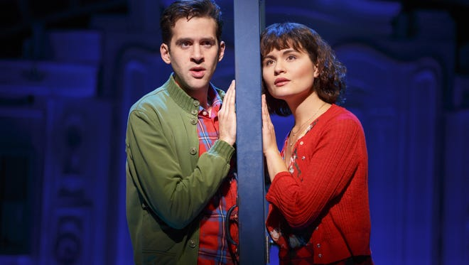 "Adam Chanler-Berat and Phillipa Soo appear in ""Amélie""  at the Ahmanson Theatre in Los Angeles."