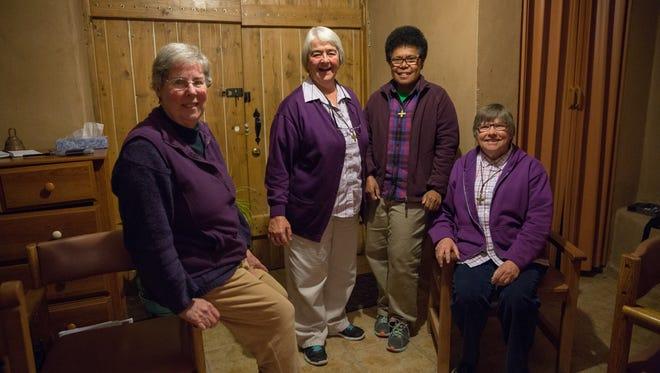Sister of Assumption, l-R Sister Diana Wauters, Sister Chabela Galbe, Sister Akeneta Lalakobouma and Sister Evelyn Strahl.