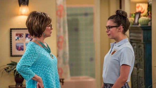 "Rita Moreno (left) and Isabella Gomez star in ""One Day at a Time."""