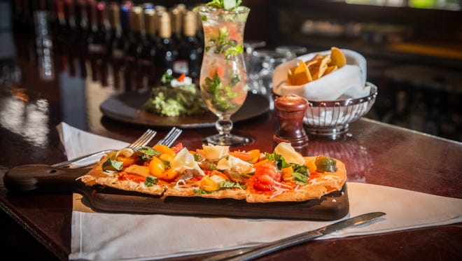 The Tomatoes and cheese flat bread is another new item at Yabba's new lunch menu.