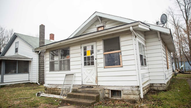 The home at 2707 S. Mulberry St. was tagged as unsafe by state police and the Delaware County Health Department after a meth lab was found in October 2016.