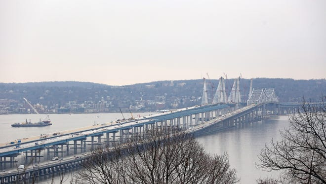 The view of the new Tappan Zee Bridge from 9W in Upper Grandview Jan. 20,  2017.