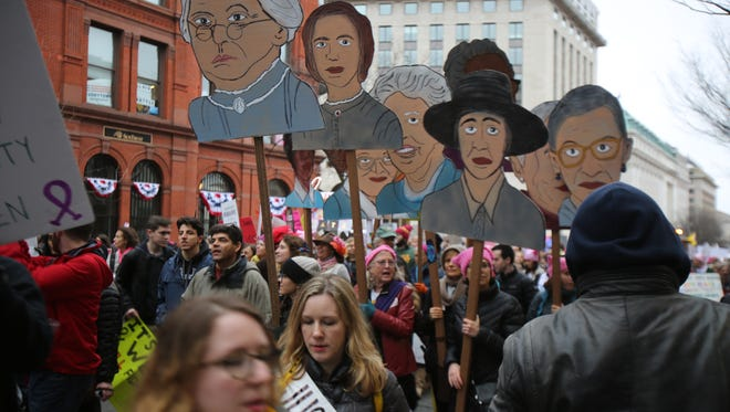 Thousands participate in the Women's March on Washington on Saturday, Jan. 21 in Washington, D.C.