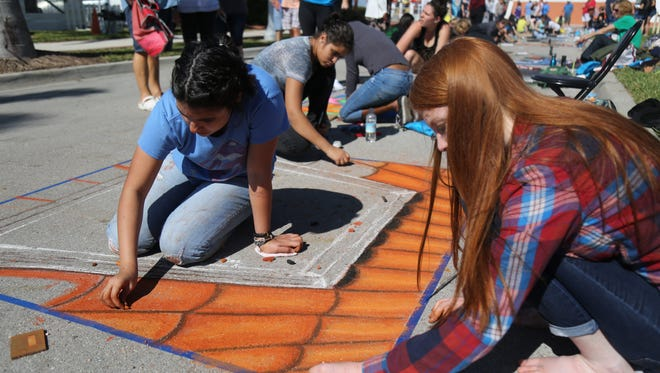 ArtFest draws thousands of people to downtown Fort Myers every February. The chalk art competition for high school students and the Publix ArtYard for kids are major attractions for families.