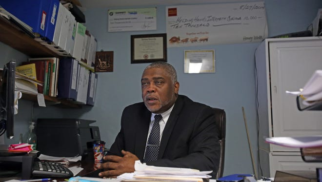 Ya'el Williams, executive director of Helping Hands talks about putting in a bid to run the warming center in Rockland at his office at the Spring Valley shelter on Feb. 6, 2017.