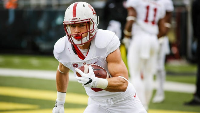 First round: RB Christian McCaffrey, Stanford -- With Dalvin Cook and Leonard Fournette likely going in the first 20 picks, McCaffrey might be the best bet to upgrade the Lions' rushing attack.
