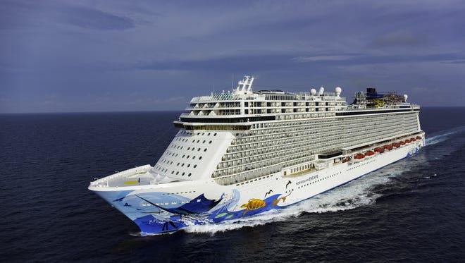 Norwegian Cruise Line's newest ship, Norwegian Escape.