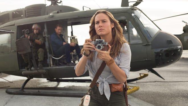 Brie Larson gets the shot as war photographer Mason Weaver in 'Kong: Skull Island.'