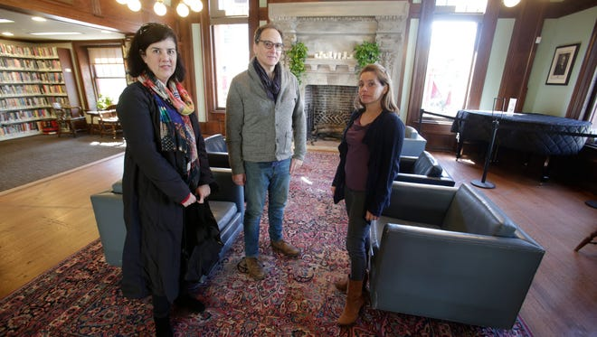 Susanne Kernan of Pomona, John Gromada of Nyack and Ivanya Alpert of Piermont, are critical of how New York Senator David Carlucci is conducting business in Albany and want to see him and other members of the Democratic party to push more progressive agendas  on Mar. 9, 2017.