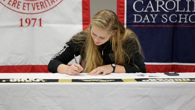 Carolina Day senior Emily Hull has signed to play college soccer for Wake Forest.