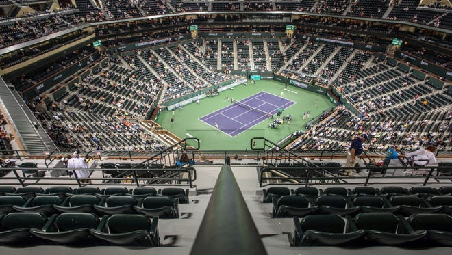Stadium 1 on Thursday, March 9, 2017 during the BNP Paribas Open in Indian Wells, CA.