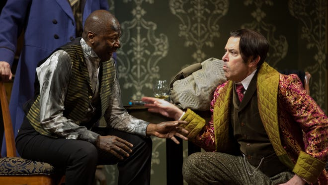 """Dress rehearsal for Alabama Shakespeare Festival's production of """"Sherlock Holmes,"""" which runs  through May 13, 2017."""