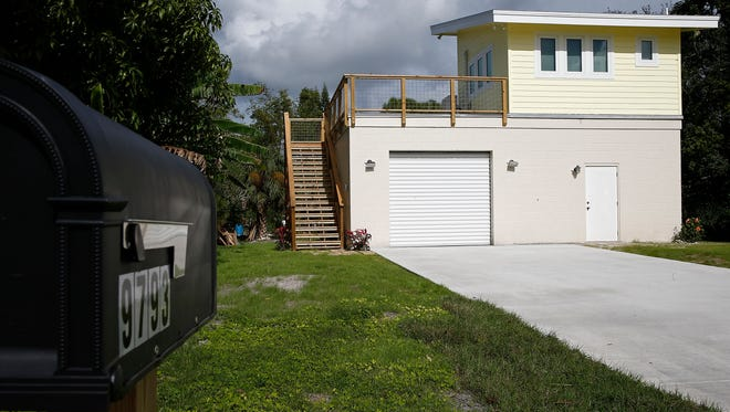 This tiny house in Bonita Springs, Florida, shown in 2015, was featured on a tiny house-based television show. A new group organized to help veterans, the North Texas Veteran's Relief Fund, wants to build a village of 50 tiny houses for homeless veterans. For now, the group is just getting started and working on building a fund to help veterans with such things as gas cards, apartment deposits, clothes for job interviews and the like.