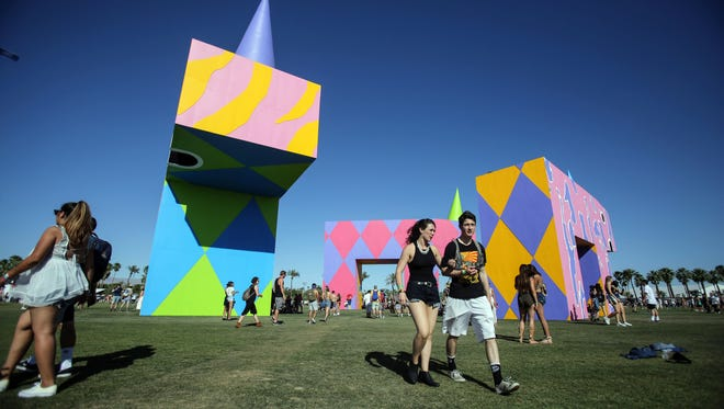 Apr 14, 2017; Indio, CA, USA; 'is this what brings things into focus' by Joanne Tatham and Tom O'Sullivan at the Coachella Valley Music and Arts Festival at Empire Polo Club. Mandatory Credit: Richard Lui/The Desert Sun via USA TODAY NETWORK
