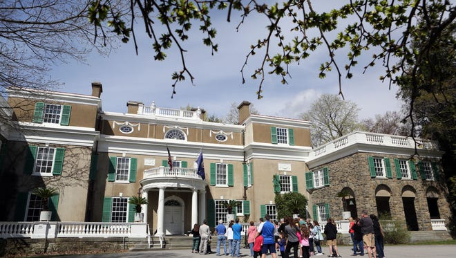 Visitors tour President Franklin D. Roosevelt's Springwood estate at the Franklin D. Roosevelt National Historic Site in Hyde Park April 17, 2017.