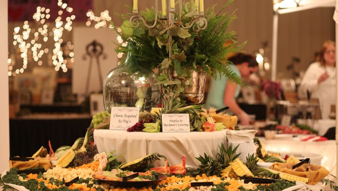 A display by Rockmans Catering at the 13th annual Portage County Taste of Wine & Cheese event.