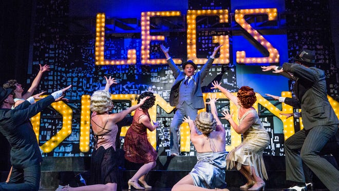 """TheatreZone cast members rehearse the show """"Legs Diamond"""" at G&L Theatre in Naples on Wednesday, April 26, 2017."""