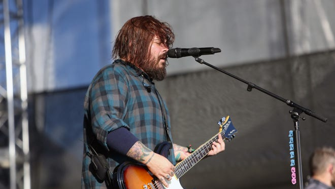 Lead singer Shaun Morgan of the South African-based band Seether performs at a music festival in Florida in 2017. The band comes to the Rock Hall City for a Sept. 24 show at the Cleveland Agora Theatre.