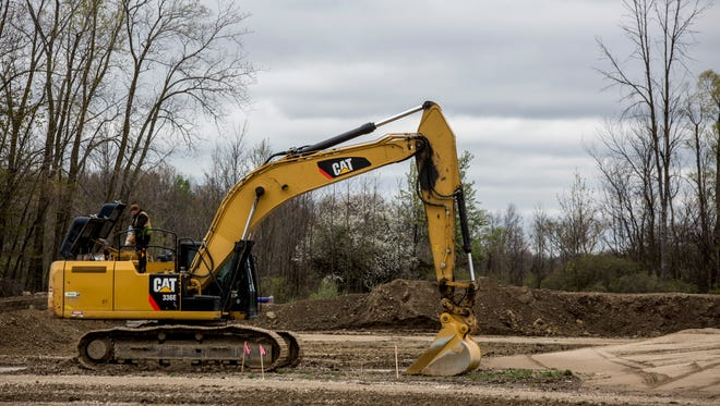 Construction is underway for Love's Travel Stop at Capac Road and Interstate 69. A Chester's Chicken and McDonald's fast-food restaurant will also open on the premises.