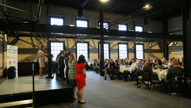 An overall at the Coastal Chamber Next Wave awards Tuesday May 9, 2017 held at The Berkshire Event Venue in Sheboygan.