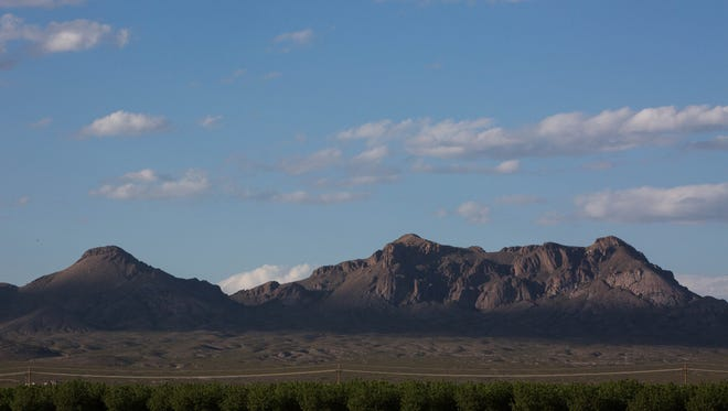 The Doña Ana Mountain Range part of the Organ Mountains Desert Peaks, Thursday May 18, 21017.