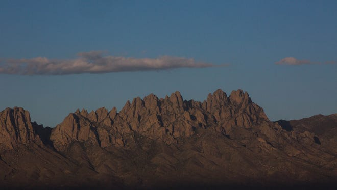 The Organ Mountains, from the East Mesa. Thursday May 18, 2017