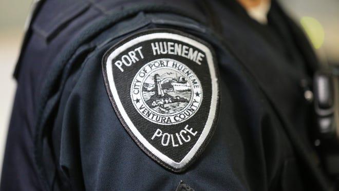 Stock image of Port Hueneme police officer badge.