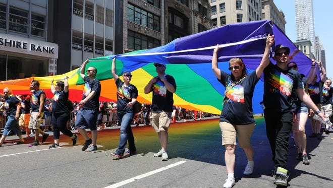 New York City held their Pride March 2016 along Fifth Avenue.