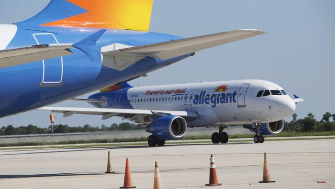 In this file photo, an Allegiant Airbus A319 taxis into the Punta Gorda Airport.