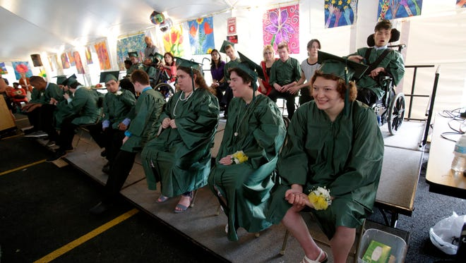 The BOCES Jesse J. Kaplan School in West Nyack celebrated the graduation of 18 students who participated in their program on Jun. 16, 2017.  The school works with special need individuals facing a host of physical and mental disabilities.
