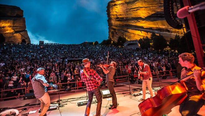 The Infamous Stringdusters at Red Rocks Amphitheatre, Morrison, Colorado.