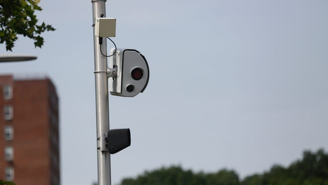 A red light camera on Central Park Avenue and Arlington Street in Yonkers on Jun. 29, 2017.
