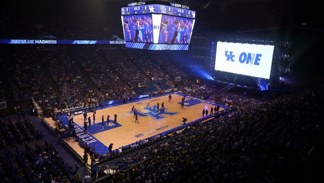 A general view of Rupp Arena during Kentucky Midnight Madness in October of 2016.