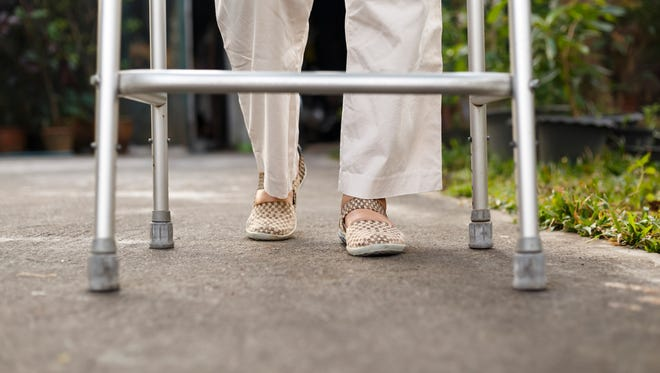 The use of a walker can aid osteoarthritis sufferers.