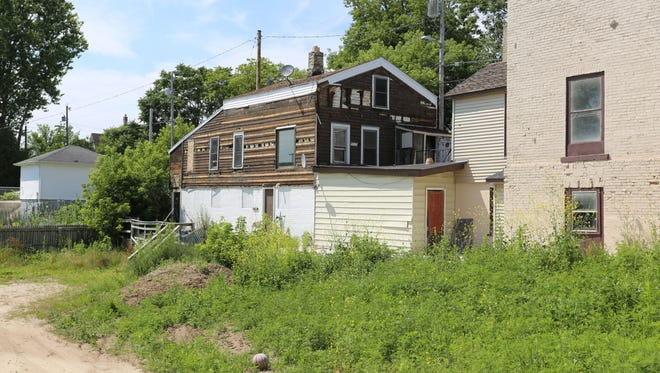 The house 1114 North 10th Street as seen Tuesday July 11, 2017 in Sheboygan.  It has been reported it is one of the oldest remaining houses in Sheboygan.