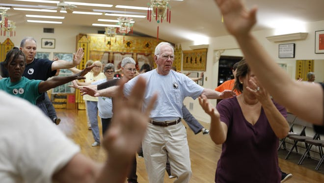 A class at the Taoist Tai Chi Society center on Thomasville Road July 18.