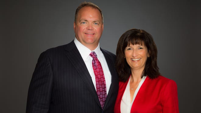United Way campaign co-chairs John Clinger and Beth Hendry