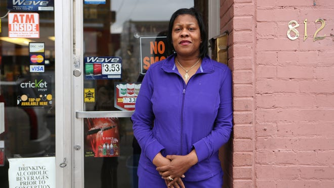 Phyllis Tyler standing outside A&E Beauty Supply in Covington in a 2015 file photo.