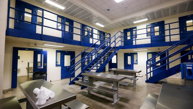A housing unit at the Polk County Jail on Monday, July 31, 2017.