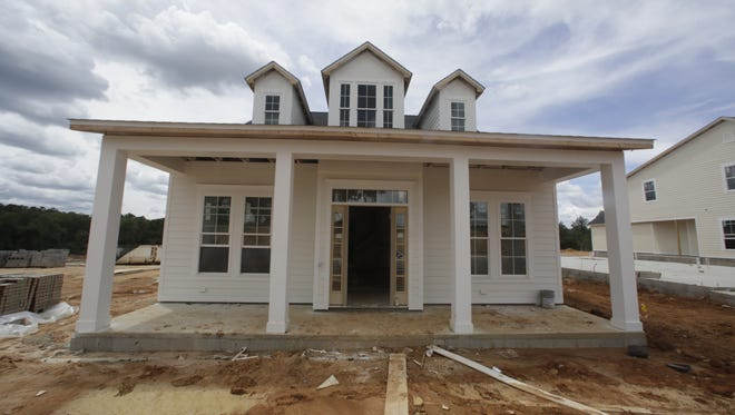 Construction is underway on model homes, pictured June 2, at Canopy, a new development of 500 acres between Miccosukee and Centerville roads.
