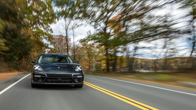 Porsche's InnoDrive driver-assist tech leverages data from topographical maps and traffic services to look 1.8 miles down the road and prepare the car's suspension and engine for the road ahead.