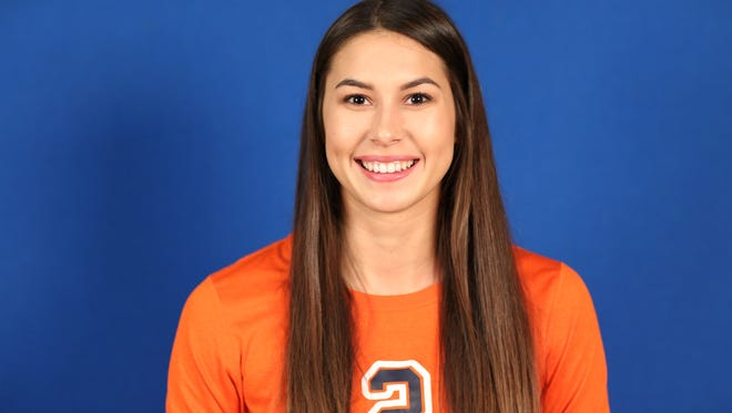 COS volleyball player Payton Trimm leads the Giants with 47 kills.
