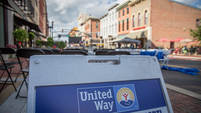 Last minute preparations are in place people begin to gather for the United Way of Delaware County downtown block party from 6 p.m. until 8:30 p.m. on Sept. 7 along Walnut Street downtown.